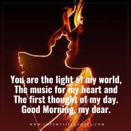 you are the light my world my lovely wife