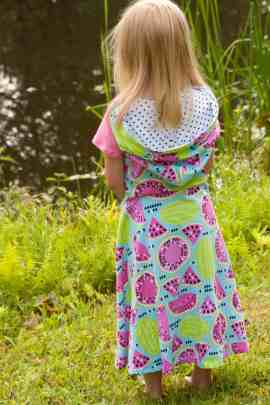 Love Notions Mallory Hooded Crossover Dress PDF Pattern