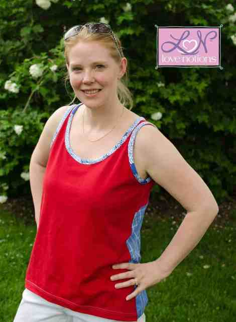 Love Notions Hip-Hop Tank and Top pdf Pattern ladies