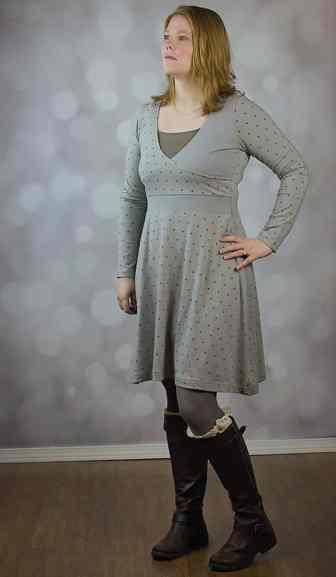 Love Notions WIllow Wrap Dress PDF Pattern