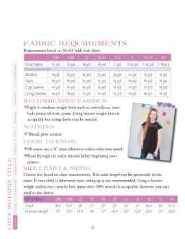 Love Notions MIss Mary Mack Tunic easy PDF Pattern