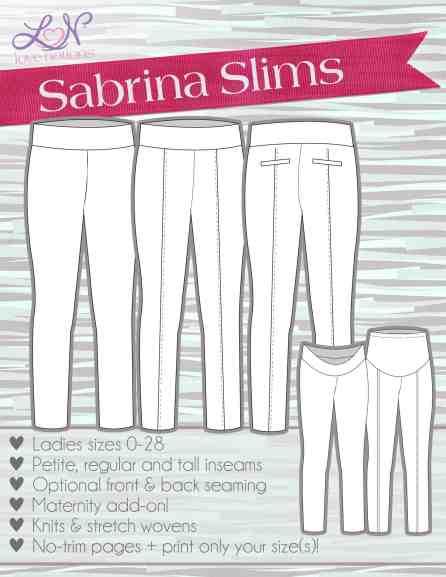 Love Notions Sabrina Slims Pants 0-28