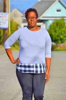 Tabitha Top with shirttail hem