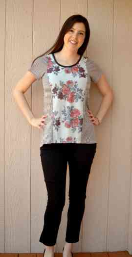 Tidal top with short sleeves