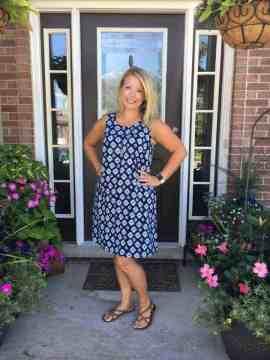 Cadence knee length tank dress