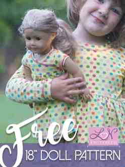 American Girl free dress pattern