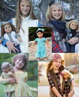 Doll and coordinating girls sewing patterns