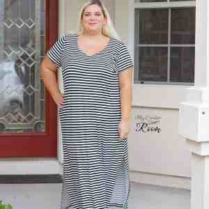 Cadence maxi dress with short sleeves