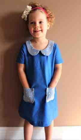 Prisma a-line dress with Peter Pan collar