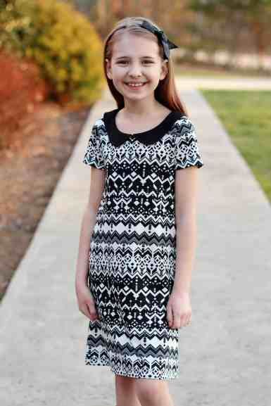 Prisma a-line dress and Peter Pan collar
