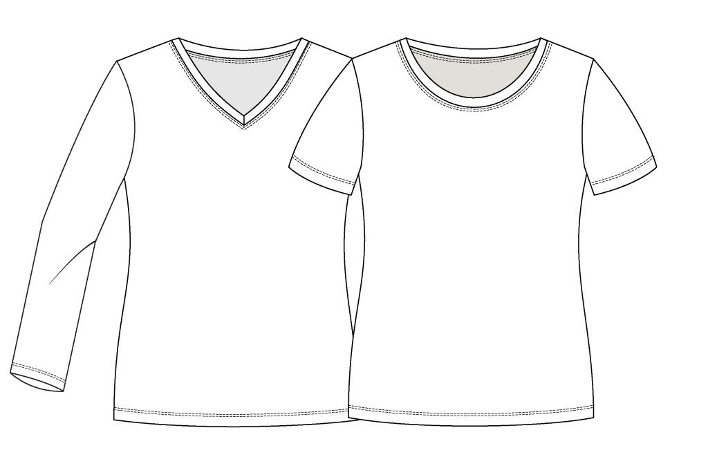 Girls Classic Tee pdf pattern