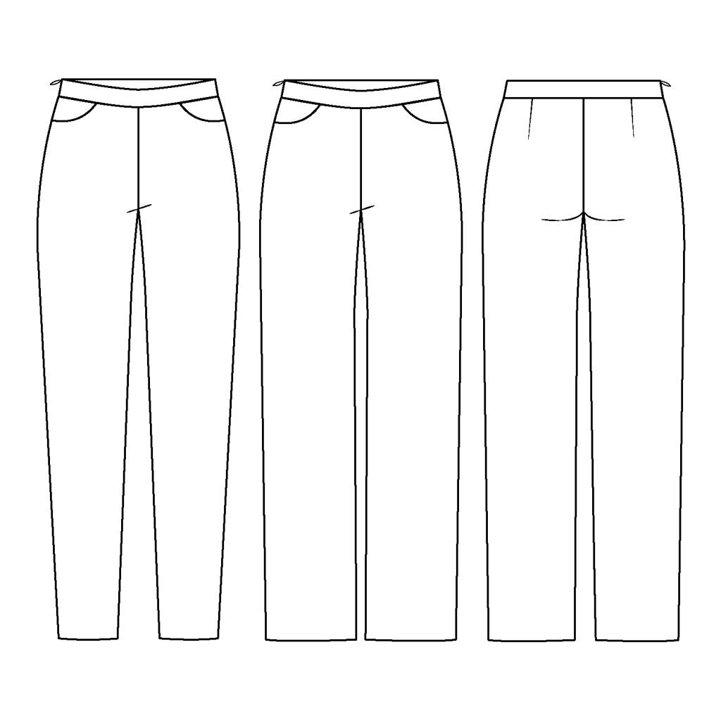 Duet Trousers line drawing