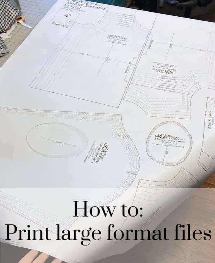 Printing the large format pattern files