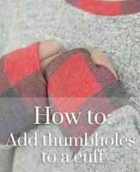 How to add thumbholes