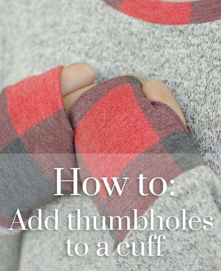 Adding thumbhole cuffs to the Sloane Sweater
