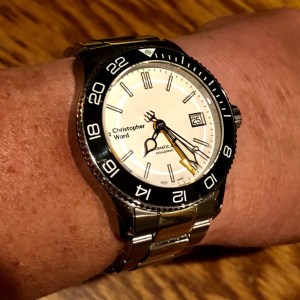 PG's Christopher Ward Trident GMT. Great as a travel watch!