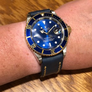 Rolex Submariner two-tone on amazing custom strap by @ea8