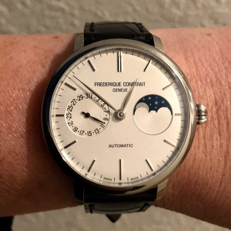 Perpetual Girl's Wrist Check - Frederique Constant Slimline Moonphase Manufacture $2,895.00 USD