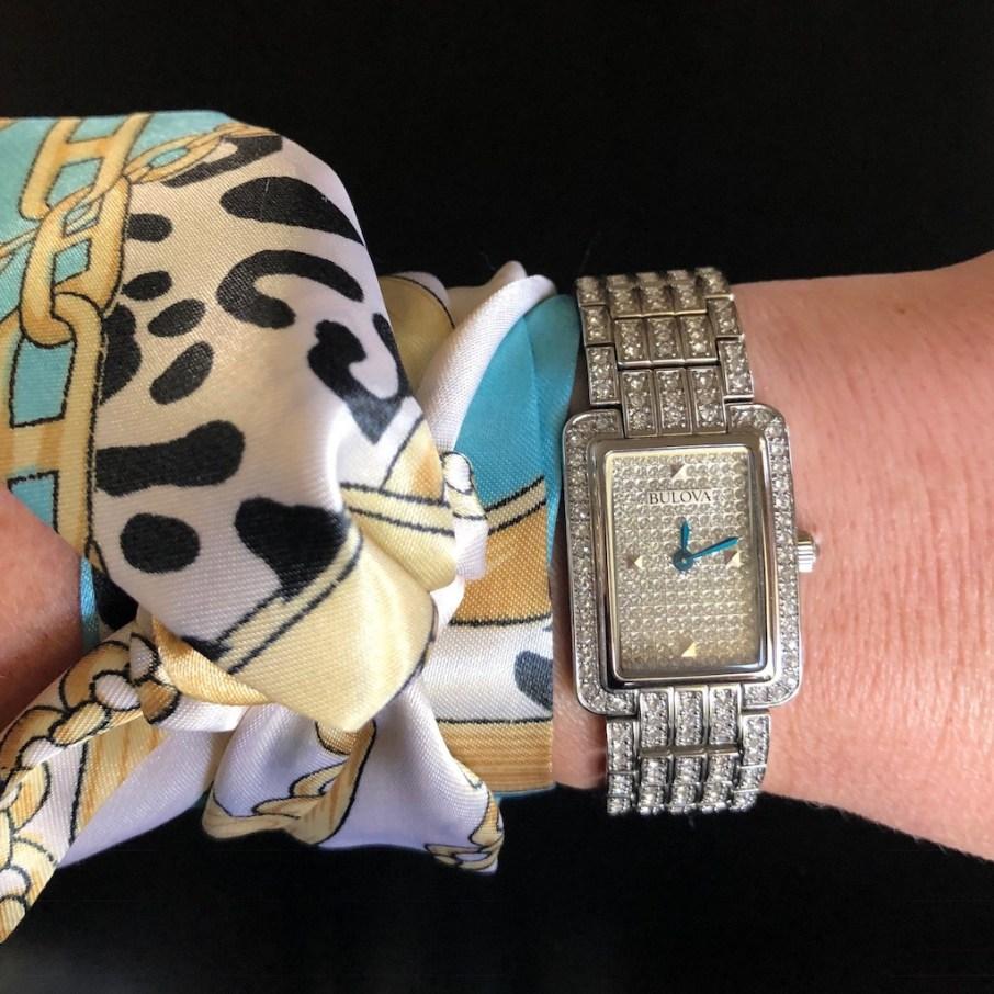 Black Sheep Scarf S02 - $20 USD - blksheepofficial.com Bulova Women's 96L244 Swarovski Crystal Pave Bracelet Watch - $259.90 USD - amazon.com