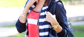 How to wear Red White Blue Together