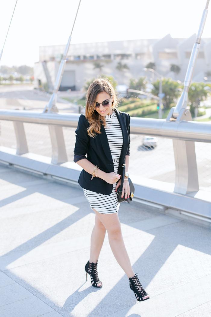 de lacy matching stripe skirt top