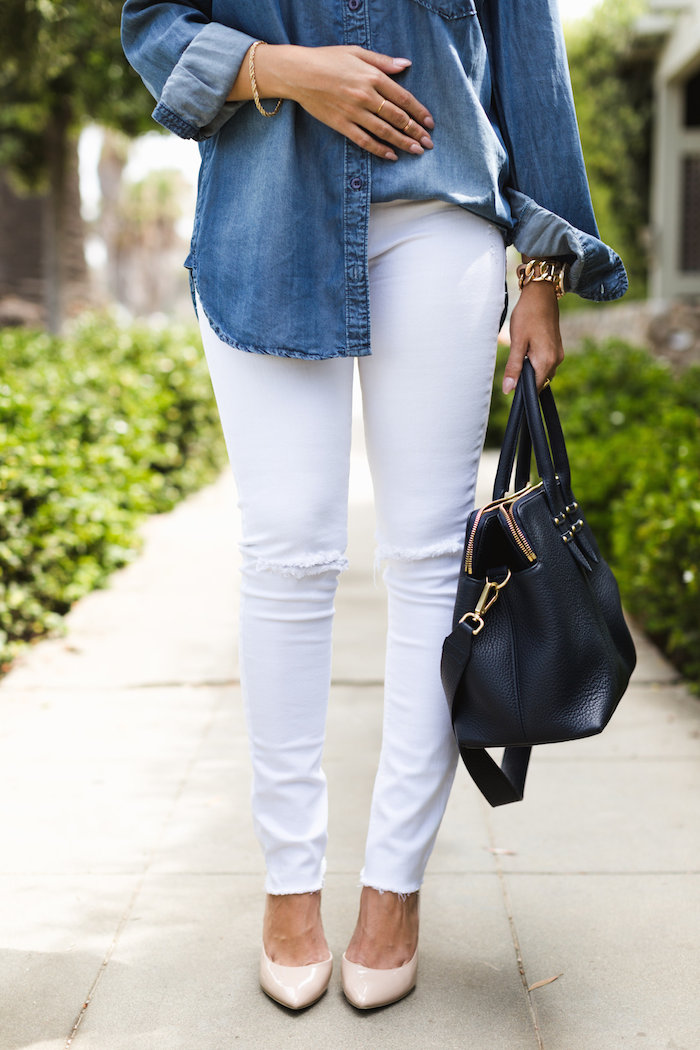 dl1961 white denim stretch legging jeans