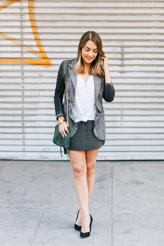 terry skirt and blazer