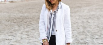 Linen Blazer at the Beach