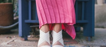 Pink Pleated Maxi