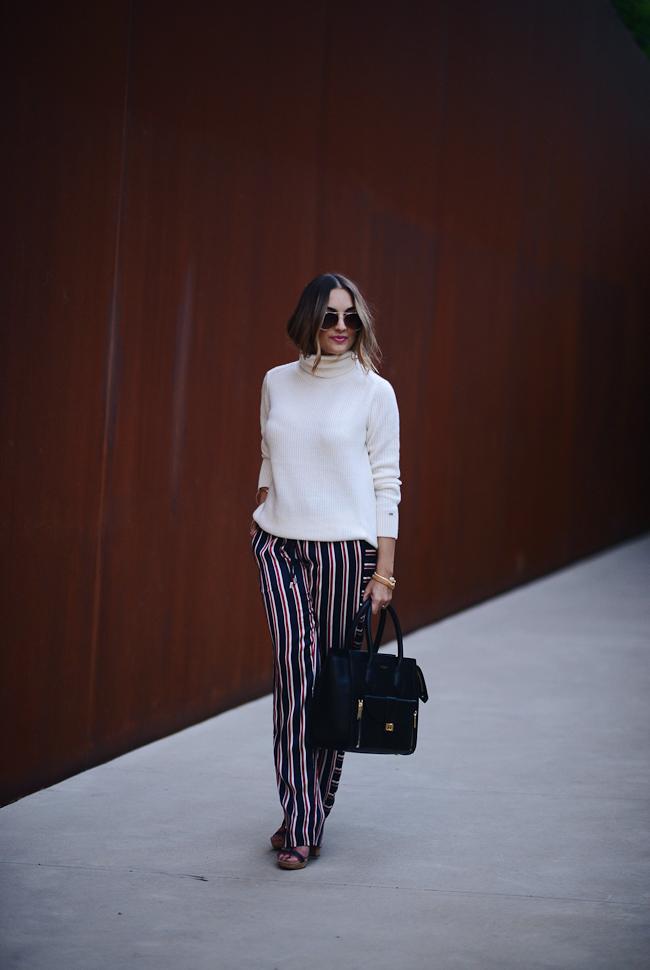 tommy hilfiger stripe silk pants