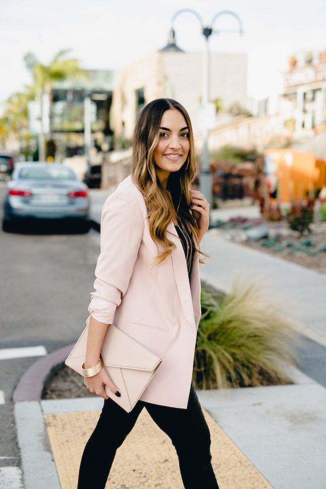 Light Pink Blazer Topshop