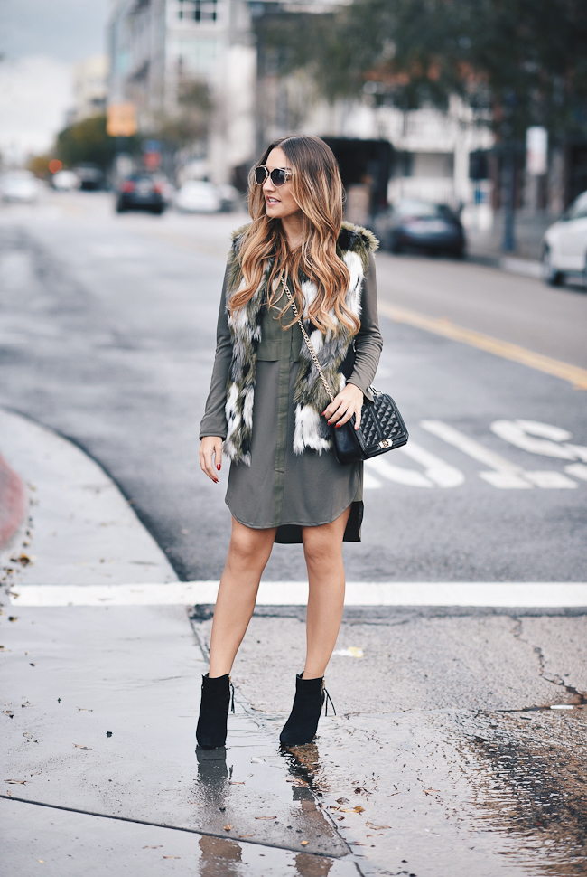 olive oversized dress topshop