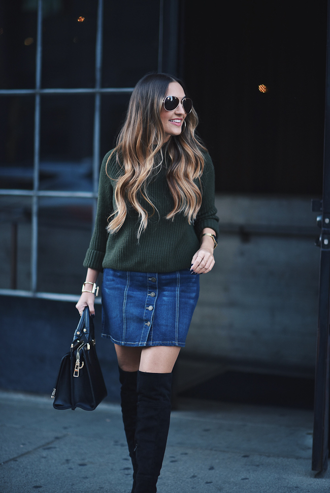 topshop olive green sweater