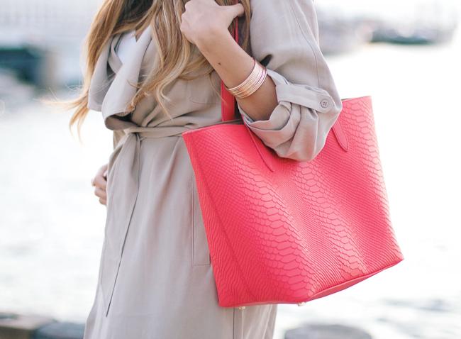 Gigi New York Coral Bag