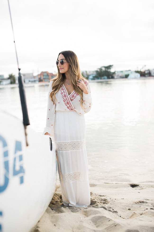 Embroidered Blouse White Maxi-3
