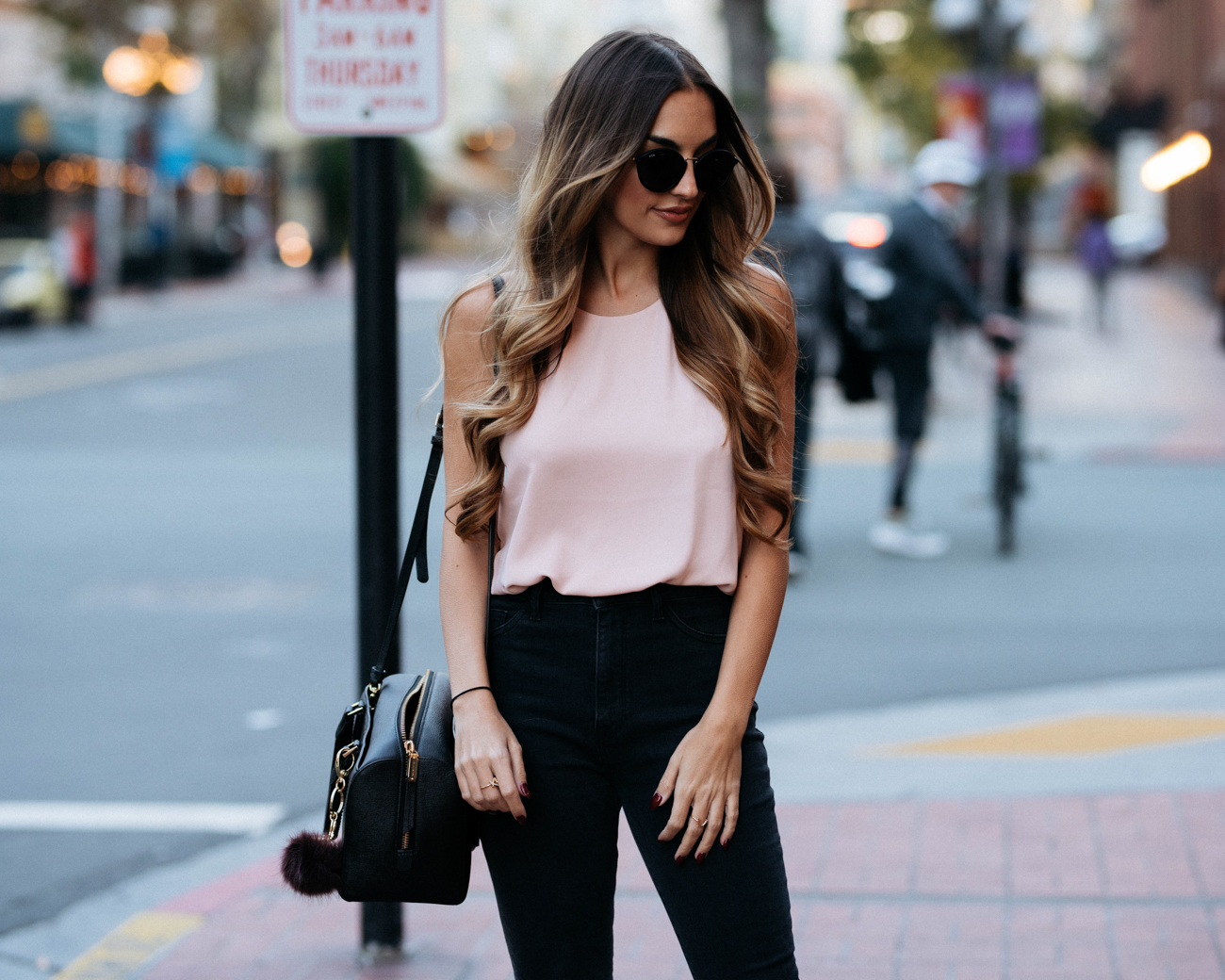 Wayf Pink Bodysuit