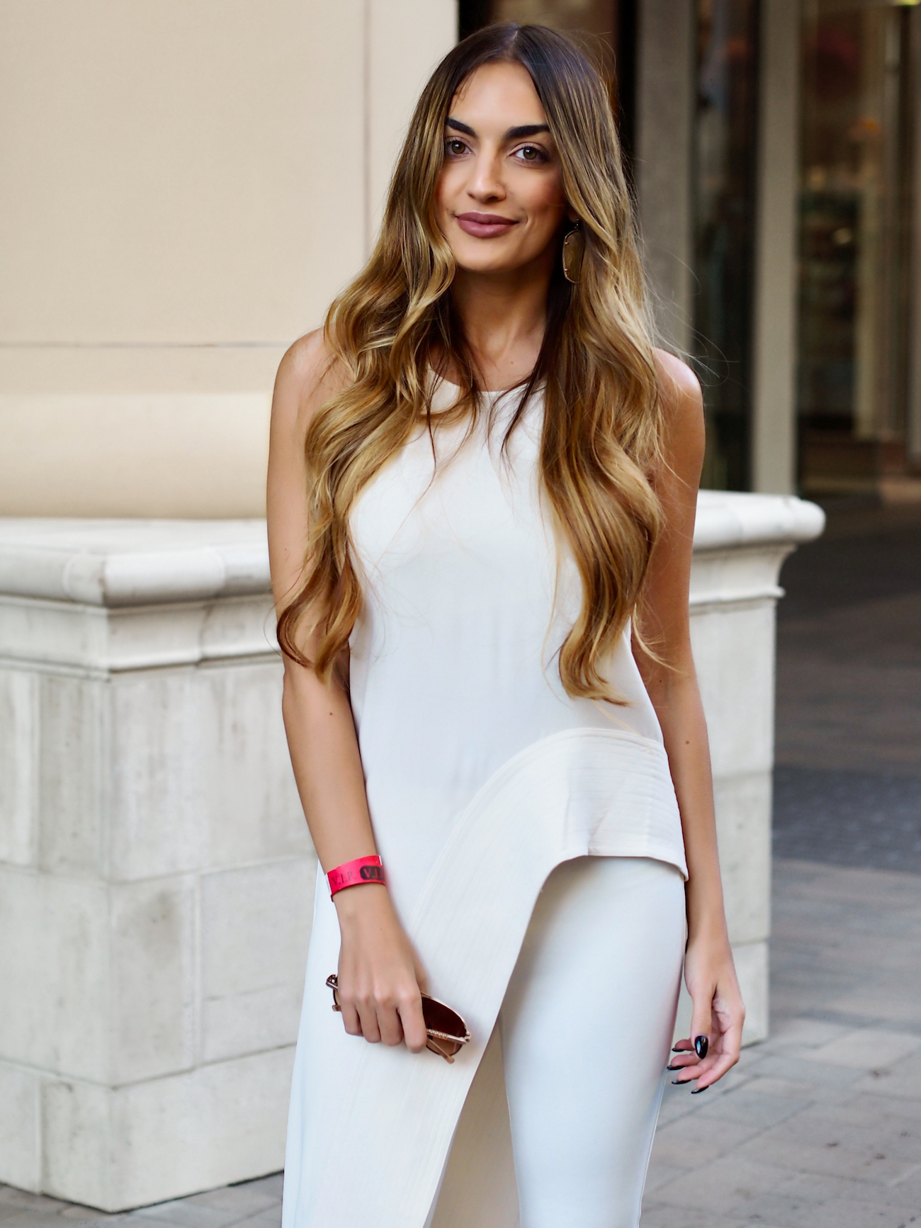 all white outfit halston heritage