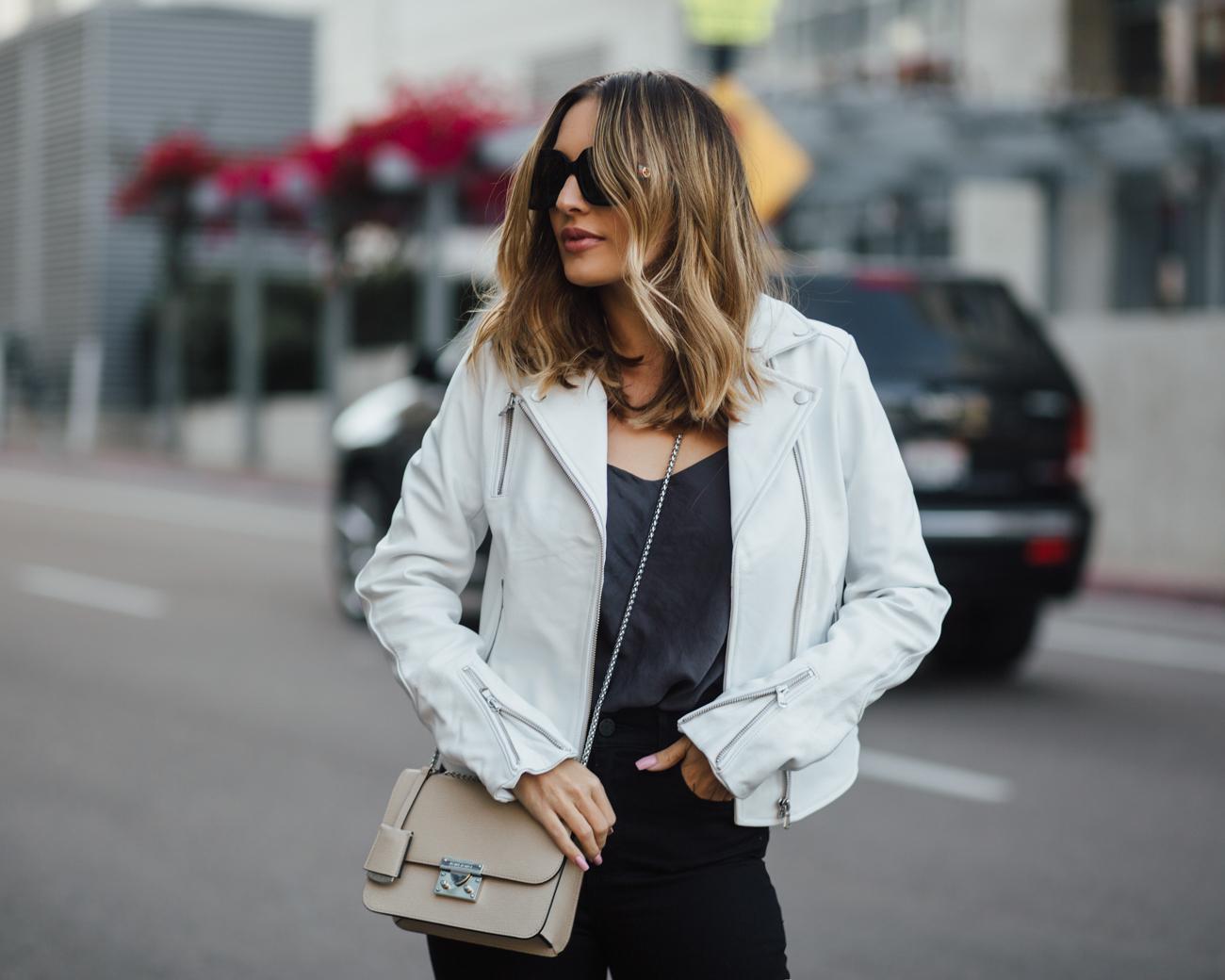 dstld white leather jacket
