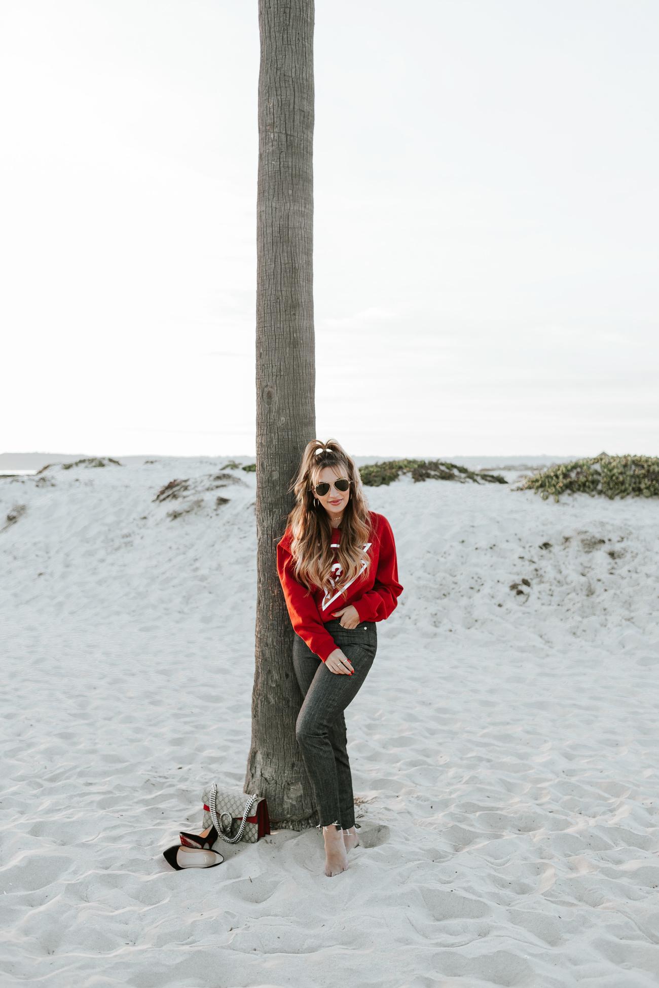 GUESS Red Sweatshirt