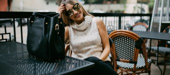 Speckled Sleeveless Sweater