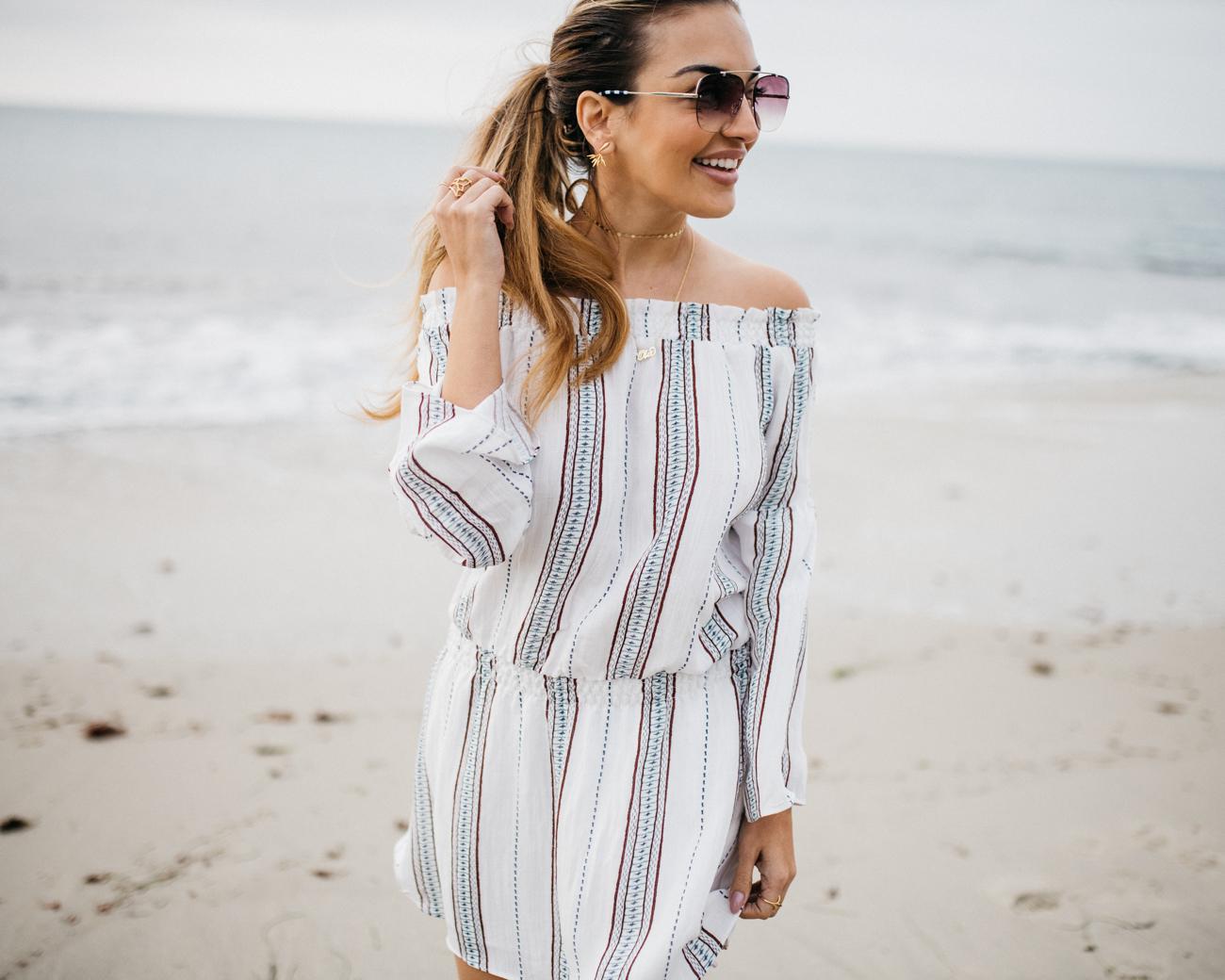 Vici Dolls Stripe Dress Beach