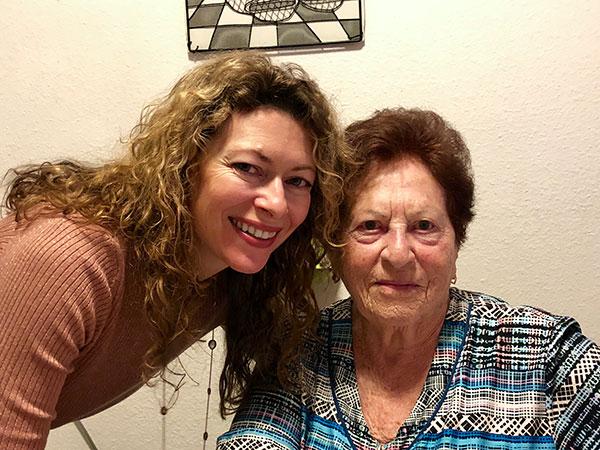 Angelika Ilina with her grandmother