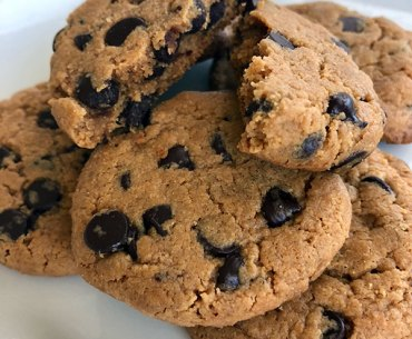 Almond Butter Chocolate Chip Cookies Recipe