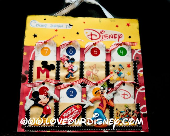 Craft Time- Count Down To Disney