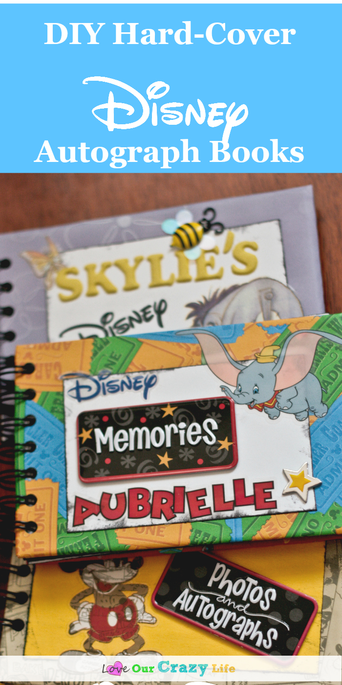 Diy Hardcover Book : Diy hard cover disney autograph books this crazy