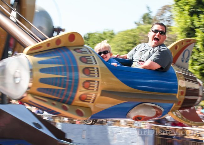 Astro Orbitor ride in Tomorrowland in Disneyland