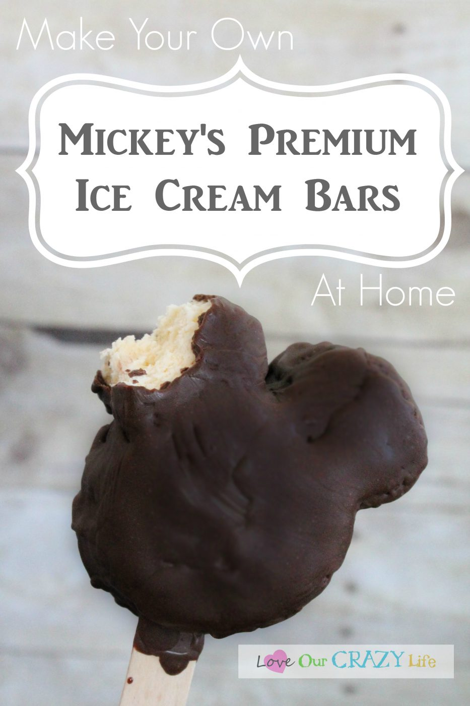 Mickey Premium Ice Cream Bars at home? Yes Please! Check out the tutorial here. Great way to bring some Disney magic home.