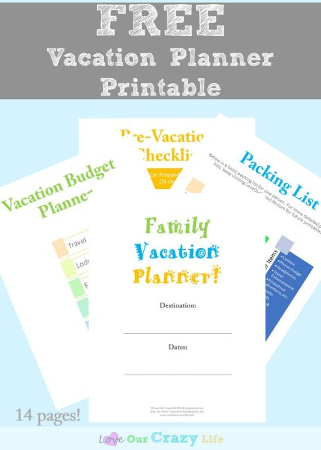 Vacation Planning Tips (Plus a Printable Vacation Planner)