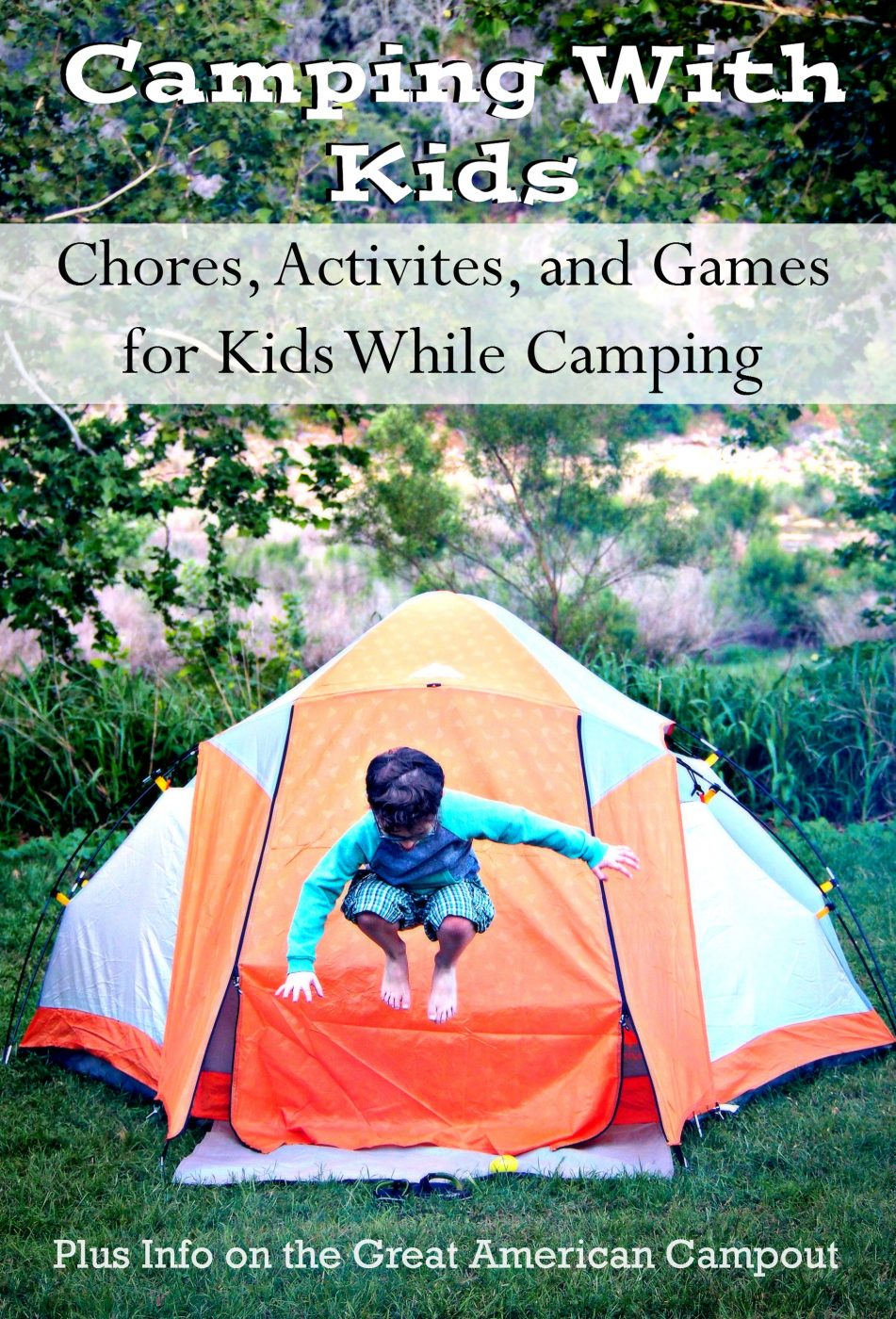 Camping with kids can be a lot of fun, but can also be a bit overwhelming. Check out these tips for camping with children. Great ideas for games, activities and even camp chores for littles.