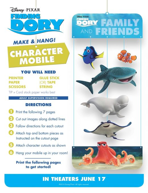 Finding Dory mobile craft